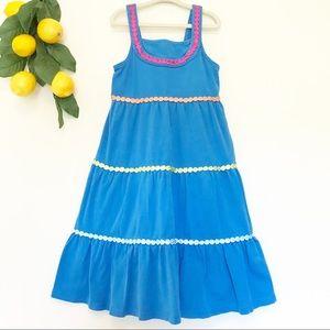 Gymboree Blue Tiered Ruffle Dress Little Girl 7
